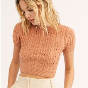 NWT FP cropped cable knit top
